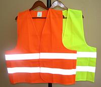 Сигнальный жилет оранжевого и лимонного цвета, PRC /04-1