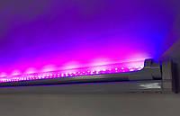 Светодиодный фитосветильник SL-018F 18W линейный (fito spectrum led) Код.58844
