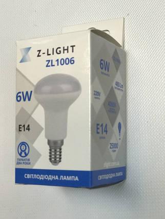 Светодиодная лампа Z- LIGHT ZL1006 6W R50 E14 4000K Код.58935, фото 2
