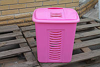 Корзина для белья розовая (гладкая), производитель Турция