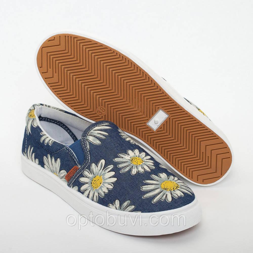 a8f41df75 Мокасины ромашки на резинках Gipanis - Обувь оптом Шуз-холл   Обувь от  производителя в