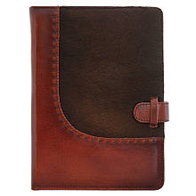 """Ежедневник А5 в кожаной обложке """"Вестерн"""". Цвет коричневый"""