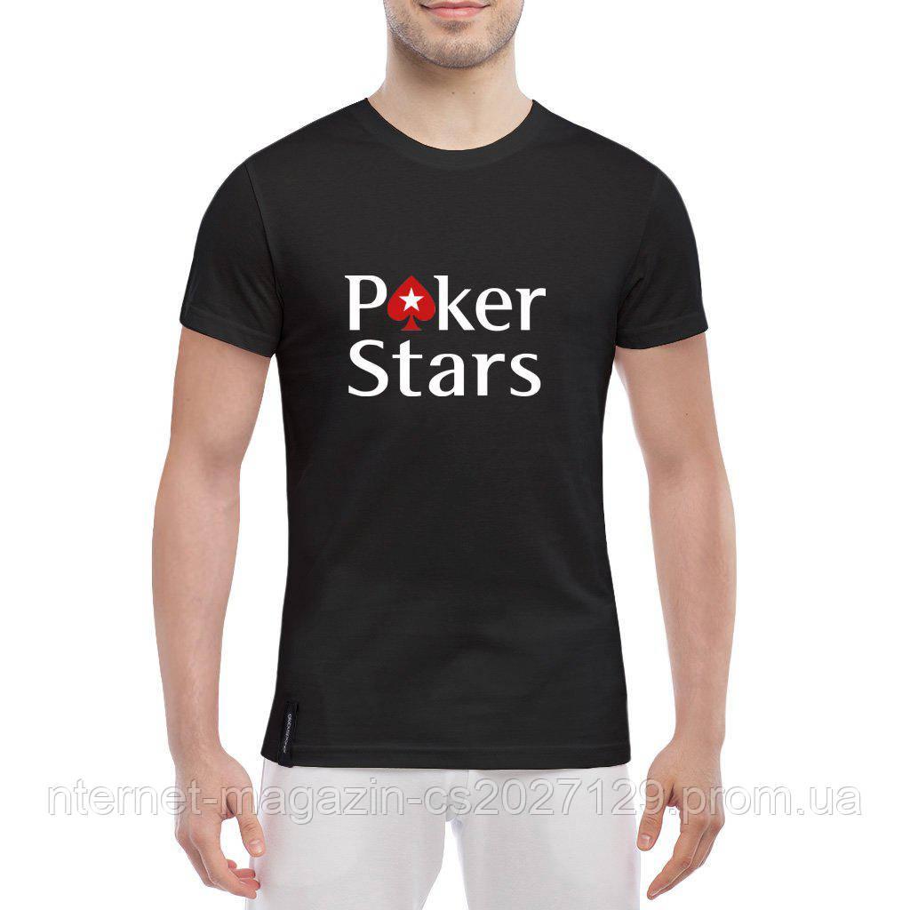 Футболка принт Poker Stars
