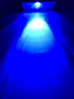 Наружный прожектор 10W синий линзованый Код.59105