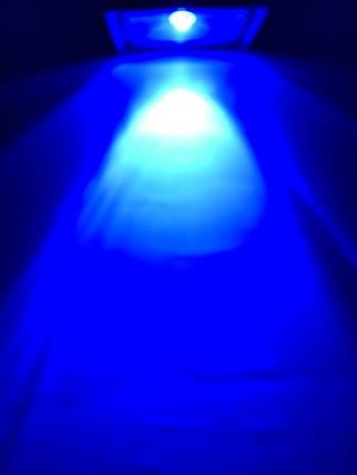Наружный прожектор 10W синий линзованый Код.59105, фото 2