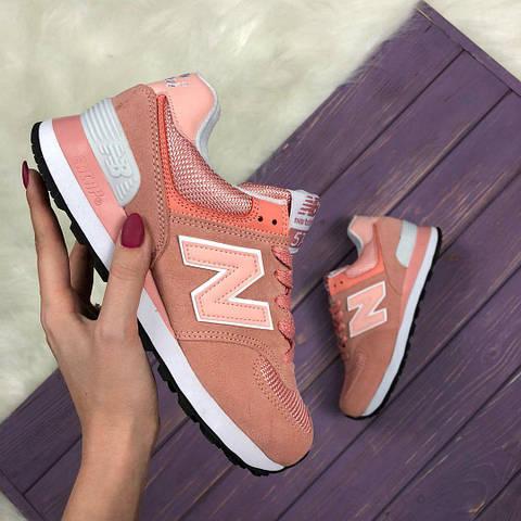 ... Кроссовки New Balance 574 Pink. Живое фото (Реплика ААА+) - купить . 6002e77fc07fd