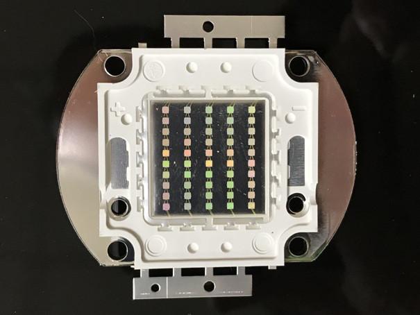 Светодиод матричный СОВ зеленый для прожектора 50W (45Х45 mil) Код.59165