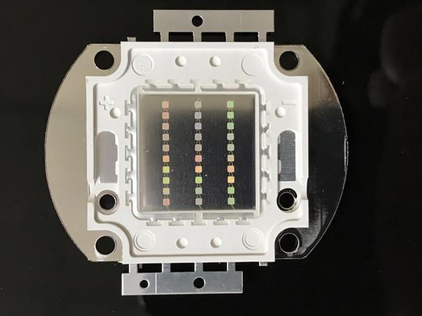 Светодиод матричный СОВ зеленый для прожектора 30W (45Х45 mil) Код.59167