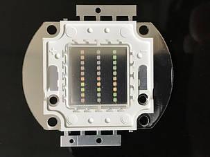 Светодиод матричный СОВ зеленый для прожектора 30W (45Х45 mil) Код.59167, фото 2