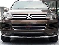 Накладка на передний и задний бампер тюнинг обвес Volkswagen Touareg 2