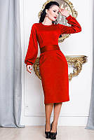 Красное женское платье в стиле Диор 42-60р