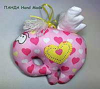 """Мягкая игрушка-подвеска ручной работы  """"Слон-купидон"""""""