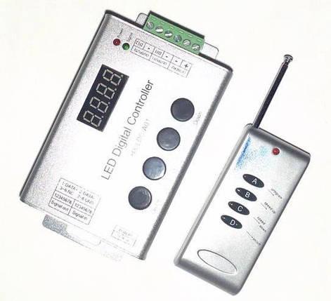 Контроллер к бегущей волне 1 LED segment 12A, (4 кнопки) радио дистанционное управленине Код.54337, фото 2