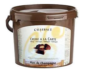 Callebaut Crème a La Carte Marc de Champagne. Білий шоколадний ганаш 5 кг відро