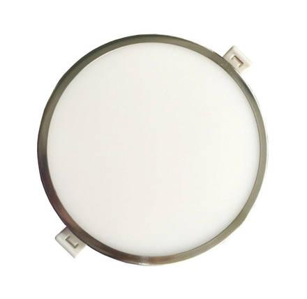 Светодиодная панель RIGHT HAUSEN 18W 4000K круглая сатин Код.57216, фото 2