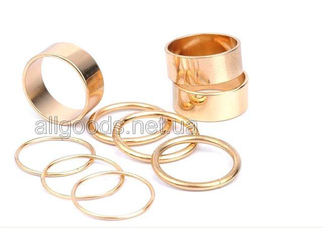 Кольца. Набор колец из 9 штук золото