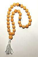 Четки классические, Оникс, 33 бусины, буддийские четки, крупные бусины