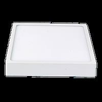 Потолочный светодиодный cветильник накладной LUXEL 24W 4000K квадратный Код.57580