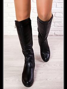 Женские демисезонные сапоги из натуральной кожи 6263-28