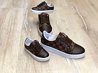 Кроссовки Louis Vuitton коричневые