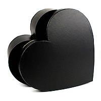 Подарочная коробка Сердце чёрная с золотом 26 x 25.2 x 9.5 см, фото 1