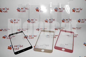Захисне протиударне 3D скло White/Black для iPhone 6+