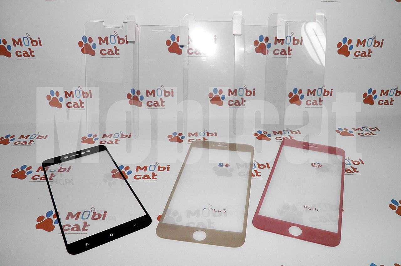 Защитное противоударное 3D стекло White/Black для iPhone 6+
