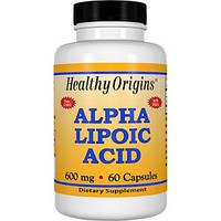 Healthy Origins, Альфа-липоевая кислота, 600 мг, 60 капсул