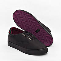 Мокасины черные на шнурках Gipanis