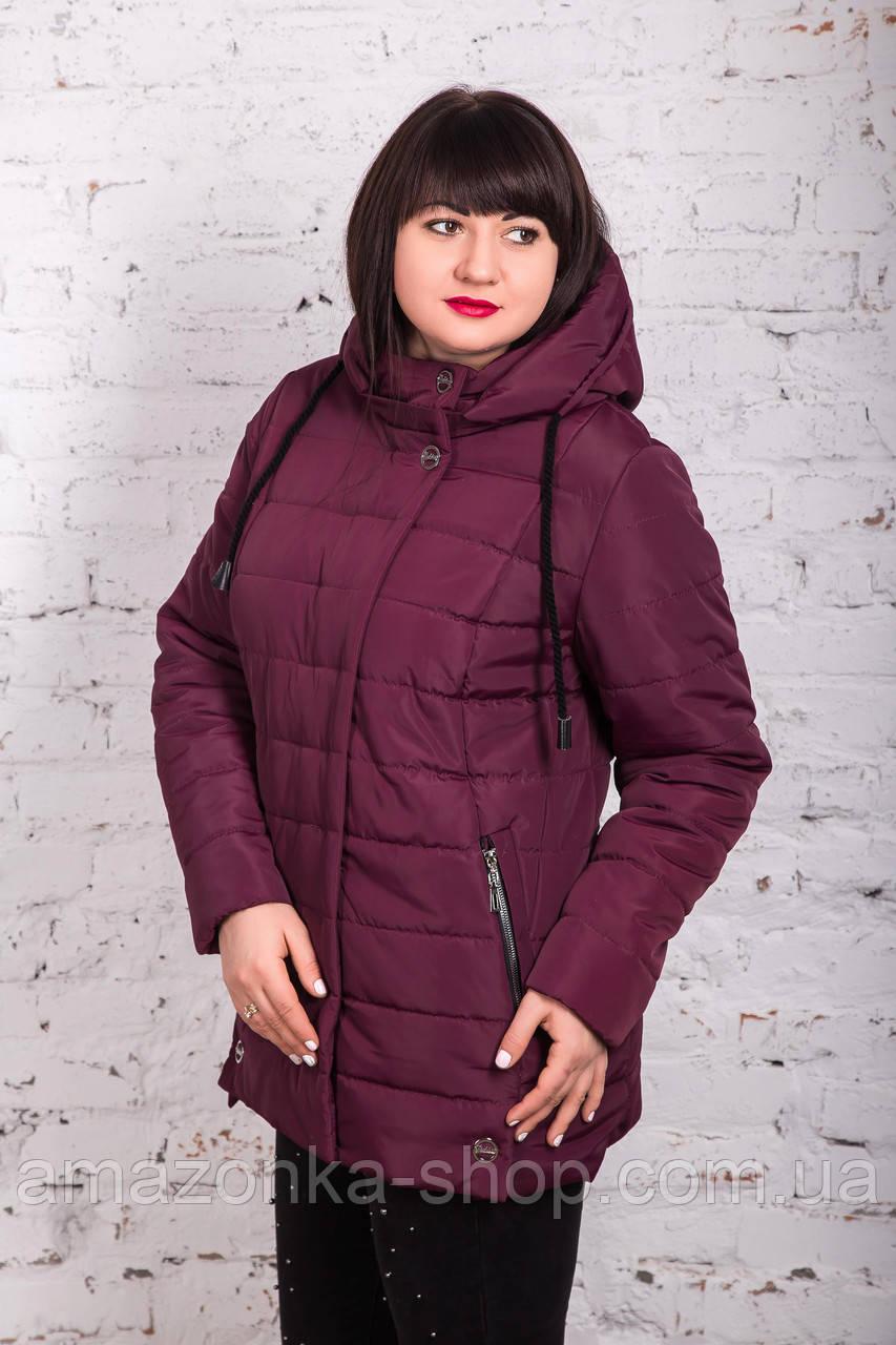 Женская куртка батальных размеров для женщин на весну модель 2018 - (кт-247)