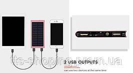 Power Bank c солнечной батареей Tollcuudda. 2 USB порта для одновременной зарядки 2х устройств. 2018г