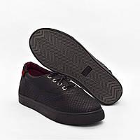 Мокасины черные классические на шнурках Gipanis