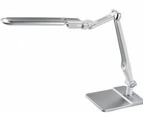Светодиодная настольная лампа SEAN 10W серебро, сенсор, диммер Код.58481