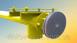 Шнек в сборе без двигателя в трубе 133 мм, длиной 4 м, толщина спирали 2 мм