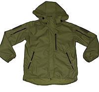 Куртка весенняя оливка ткань: мембрана, с капюшоном