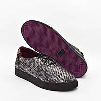 Мокасины серые классические на шнурках Gipanis