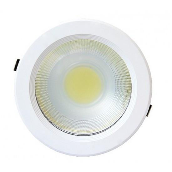 Светодиодный светильник 30W 6000K круглый Код.58626