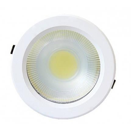 Светодиодный светильник 30W 6000K круглый Код.58626, фото 2