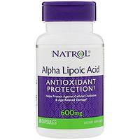 Natrol, Альфа-липоевая кислота, 600 мг, 30 капсул