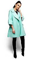 Коротке ментолове пальто-кардиган Zarina (S, M, L)
