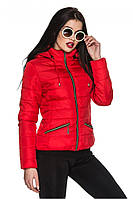 Женская красная куртка ОЛЯ  Модная зона  44-54 размеры