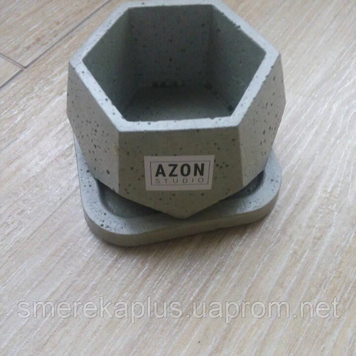Кашпо из бетона AZON белый