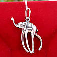 Серебряная подвеска Слон Дали - Кулон Слон серебро, фото 3