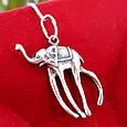 Серебряная подвеска Слон Дали - Кулон Слон серебро, фото 2