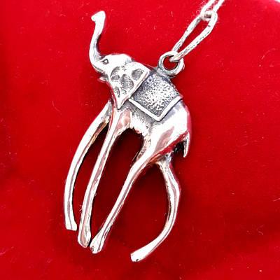 Срібна підвіска Слон Далі - Кулон Слон срібло