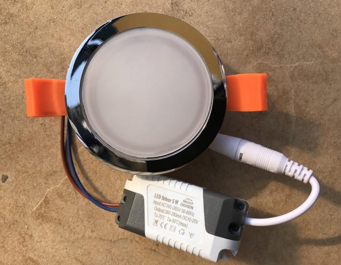 Светодиодный потолочный светильник RIGHT HAUSEN Ring 5W 4000K хром Код.58851