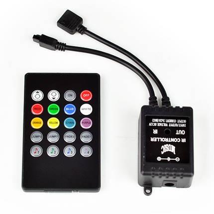 Музыкальный контроллер для RGB ленты IR 6А 12Vс пультом черный Код.57791, фото 2