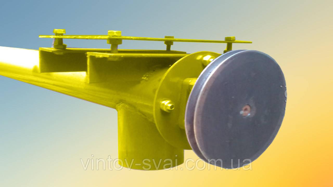 Шнек в сборе без двигателя в трубе 133 мм, длиной 12 м толщина спирали 2 мм