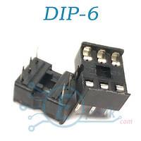 SCS-6, Панелька для установки микросхем DIP6, узкая