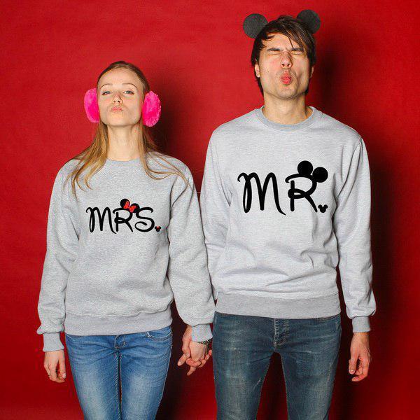 Парные свитшоты, mrs and mr Disney